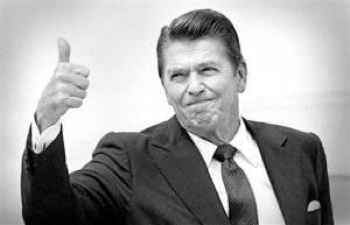 In the middle of the 1982 recession, Ronald Reagan told us that prosperity was around the corner. These days, Reagan's political heirs are falling all over themselves to lower our expectations. PHOTO: LaborNotes.org