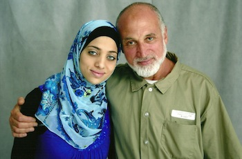 Noor Elashi and her father, Ghassan Elashi, who is imprisoned in a highly restrictive and secretive federal prison program in the U.S. for providing humanitarian aid to the people of Gaza. PHOTO: Noor Elashi