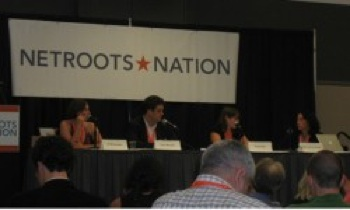 A panel of speakers at Netroots Nation 2011 in Minneapolis. PHOTO: propresobama.org
