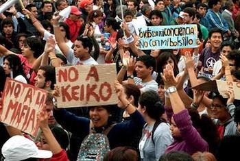 Rallying against Fujimorismo. PHOTO: Peru Indymedia