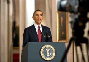 President Obama at a press conference in May (Pete Souza | White House)