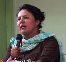 Berta Carceres, coordinator of COPINH. CREDIT: Upsidedownworld.org