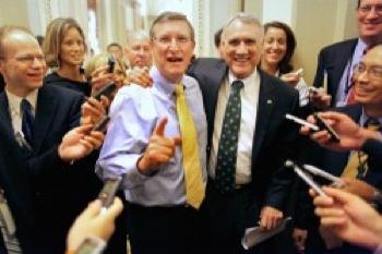 Senate Budget Committee Chairman Sen. Kent Conrad (D-N.D.) and Senate Minority Whip Sen. Jon Kyl (R-Ariz.) PHOTO: Chip Somodevilla