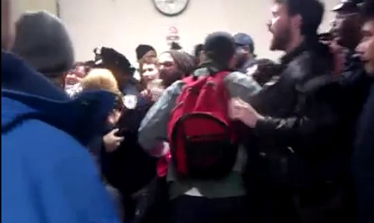 Police shoving students brooklyn college.jpg