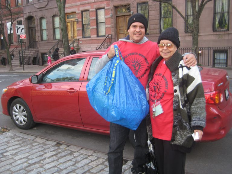 Mark and Momma Taking Supplies to Coney Island.JPG