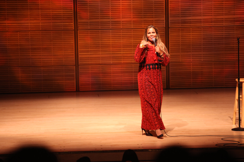 MAKING HISTORY: Mona Aburmishan also got the crowd laughing at Carnegie Hall on Feb. 5. Aburmishan, Zahr and two others who took the stage that night became the first Palestinian-American comedians to perform at the historic venue.