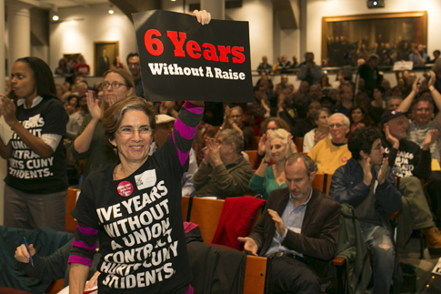 FED UP: The faculty and professional staff at CUNY have been without a new contract since 2010.
