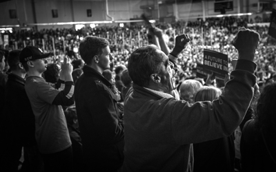 Bernie Rochester rally April 12 (credit Patrick Damiano-Flickr)BW.jpg