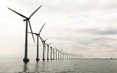 The Middelgruden wind farm off the coast of Denmark. The U.S. lags behind Europe in developing offshore wind power. Credit-UN Photo-Eskinder DebebeCMYK.jpg