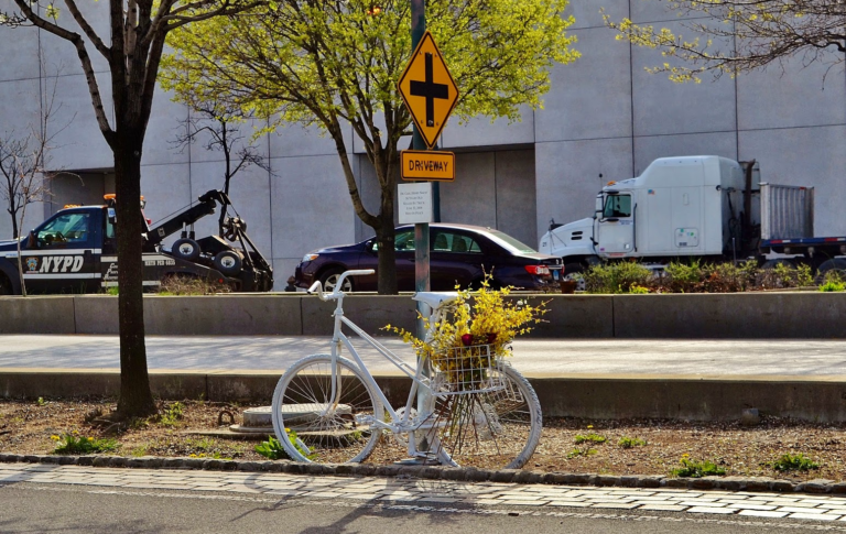 Concrete Barriers Go Up at Bike Path Site of NYC Terror Attack