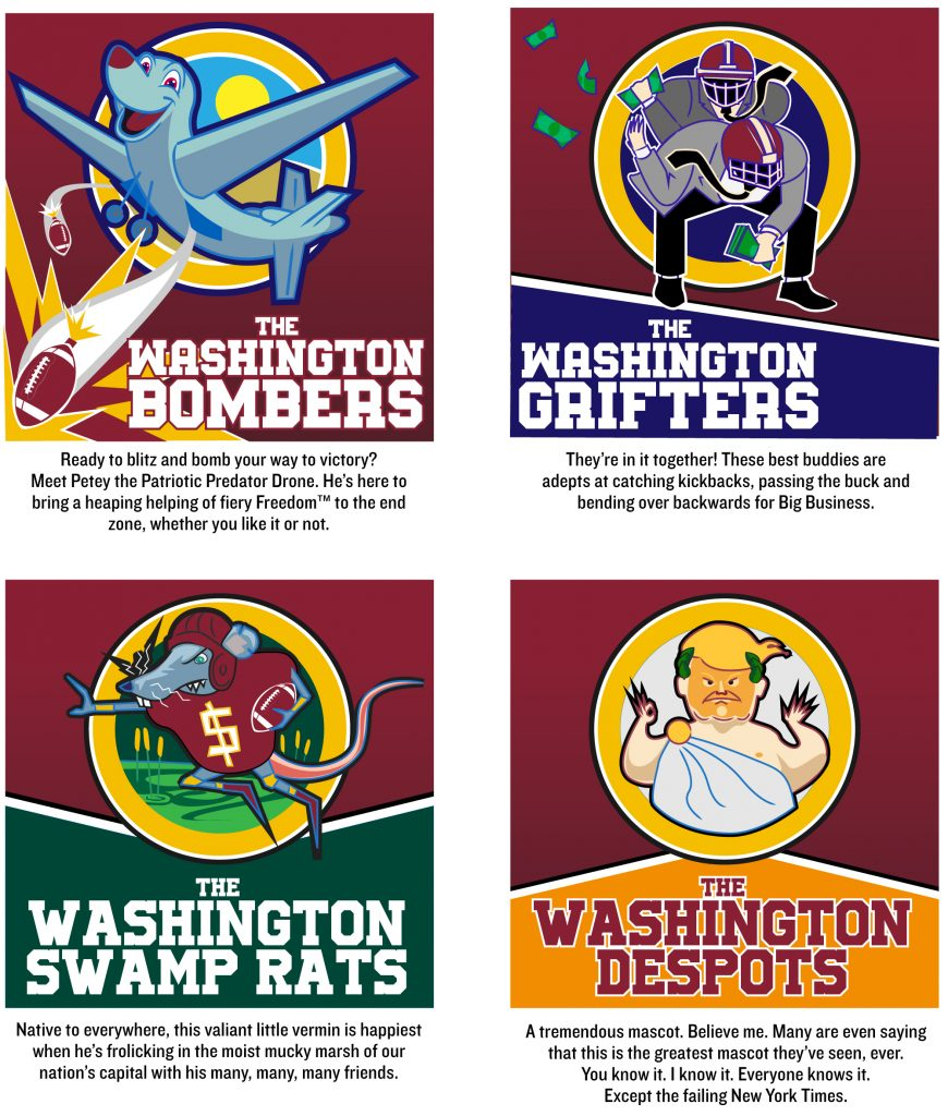 Choose A New Name For Washington S Football Team The Indypendent